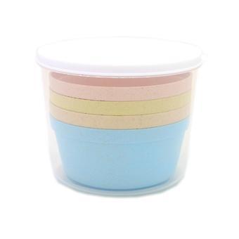 Set of 4 biodegradable bowls