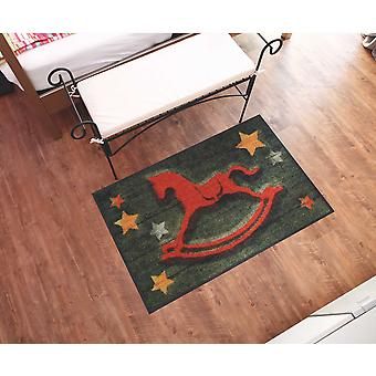 Salonloewe Doormat Caballo mecedor 50 x 75 cm lavable Dirt Mat