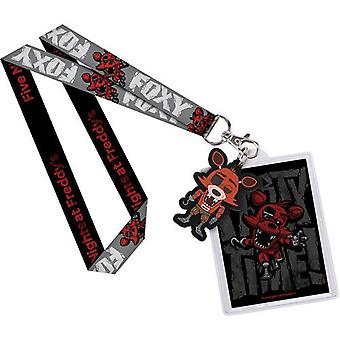 Päť nocí v Freddy ' s Foxy US Lanyard s Backer Card