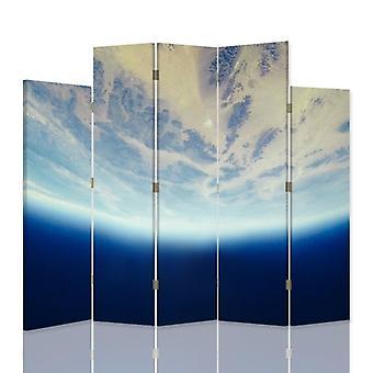Divisor de habitación decorativa, 5 paneles, lienzo, cielo dinámico 2