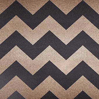 Akimbo Metallic Chevron Wallpaper Muriva
