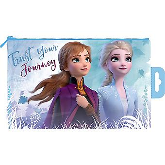 Disney Frozen Trust Your Journey Flat PVC Pencil Case