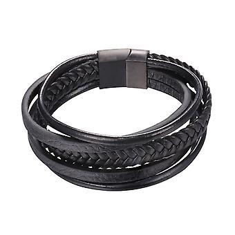 Bracelet U7 de Imitationleather-Black