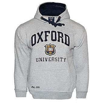 Ou129 licensed unisex oxford university™ hooded sweatshirt grey