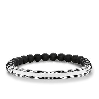 Thomas Sabo Love Bridge Thomas Sabo Blackened Obsidian Bracelet LBA0016-704-11