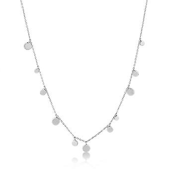 Ania Haie Silver Rhodium Plated Geometry Mixed Discs Necklace N005-01H