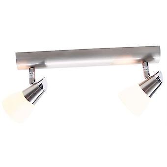 Lampe de plafond Vito II G9 40W L 300mm argent 2-flame