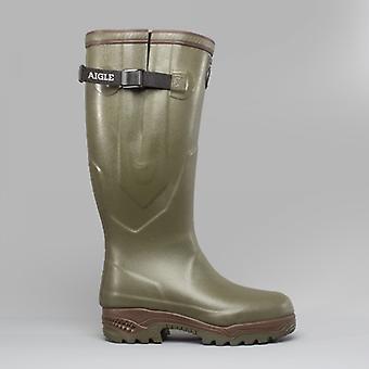 Aigle Parcours 2 Iso Unisex Buckle Wellington Boots Khaki