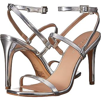BCBGeneration Women's Ivanna Dress Sandal Heeled, Silver, 6 M US