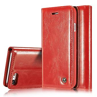 Case For iPhone 8 / 7 Red Card Holder