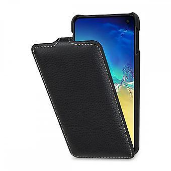 Case For Samsung Galaxy S10e Ultraslim Grained Black In True Leather
