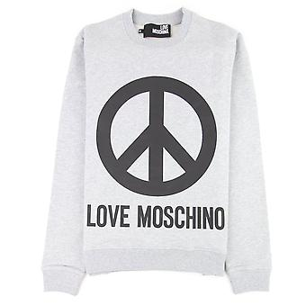 Love Moschino Grey Peace Sign Jumper