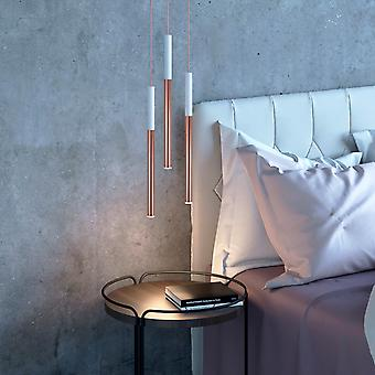 Altair 3 Mini Pendant Lighting White-Copper