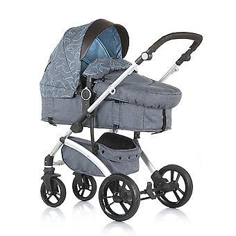 Chipolino combi stroller Malta 2 in 1 to 22 kg, storage basket handle adjustable