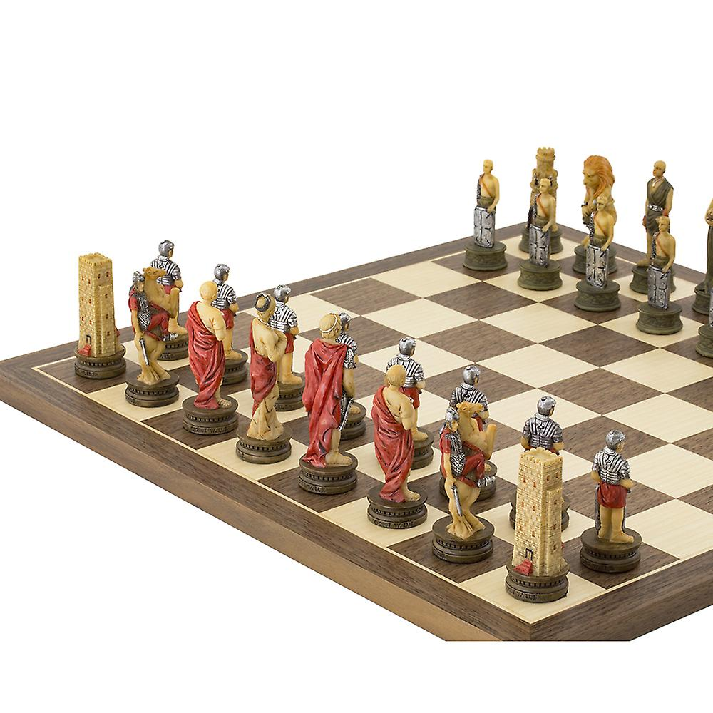 The Romans Vs Gladiators hand painted themed Chess set by Italfama
