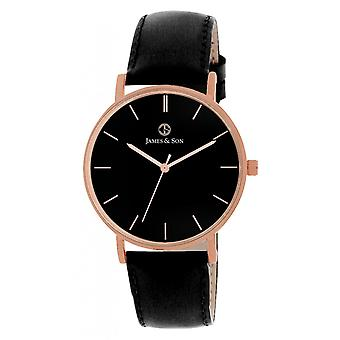 James And his JAS10031 803 - watch leather black man