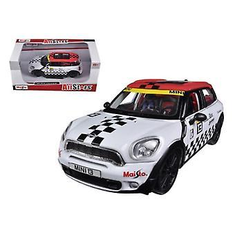 Mini Cooper Coutryman White #13 1/24 Diecast Car Model par Maisto