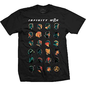Avengers Infinity War karakter shots Iron Man officielle T-shirt