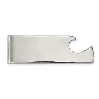 21.03mm Stainless Steel Polished Bottle Opener Money Clip Jewelry Gifts for Men