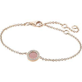 Zeades Sbc01029 bracelet - Bracelet Rose Gold Leather Crystal woman