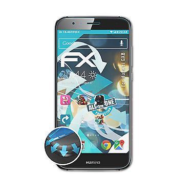 atFoliX 3x suojakalvo yhteensopiva Huawei GX8 näytönsuoja selkeä & joustava