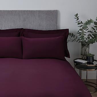 Plain Dye Bettdecke Set Pflaume - Doppel