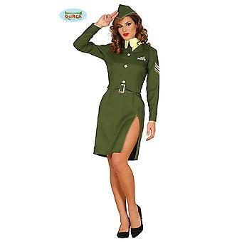 Sotilas sotilas sotilas puku naisille vihreä ohjaajan Carnival armeija