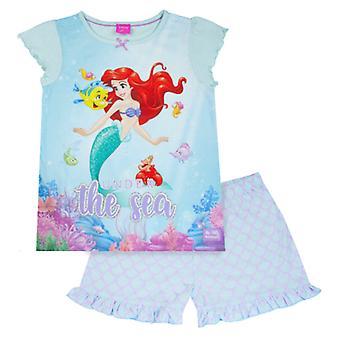 disney den lille havfrue ariel jenter pyjamas 2 stykke sett 100% bomull