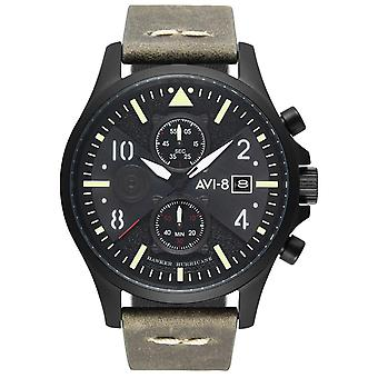 Hawker Hurricane Japanese Quartz Analog Man Watch with AV-4068-03 Cowskin Bracelet
