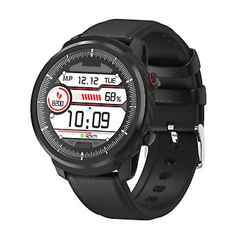 Senbono S10 Smartwatch Fitness Sport Activity Tracker Smartphone Watch iOS Android iPhone Samsung Huawei Black Leather