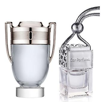 Paco Rabanne Invictus For Him Inspired Fragrance 8ml Chrome Lid Bottle Hanging Car Vehicle Auto Air Freshener