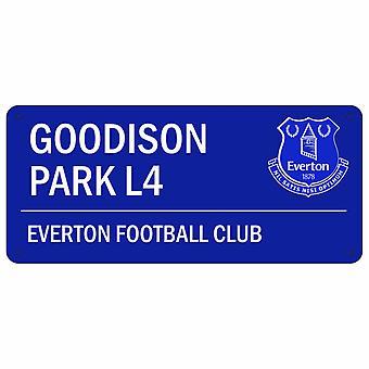 Everton FC oficial Goodison Park L4 calle Metal signo