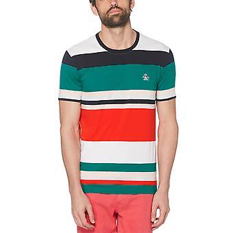 Original Penguin Bold Stripe T-Shirt - Deep Lake