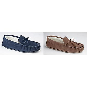 Mokkers Mens Oliver Moccasin Wool Lined Slippers