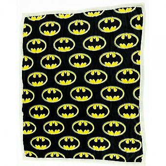 DC Comics Batman Symbol All Over Thick Micro Sherpa Throw Blanket