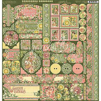 """حديقة إلهة ملصقات كاردستوك 12 & quot;X12"""" -"""