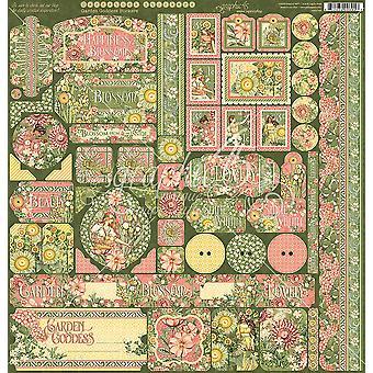 Garden Goddess Cardstock Stickers 12