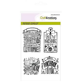 CraftEmotions Clear Stamps A6 - new home handlettering (Eng)