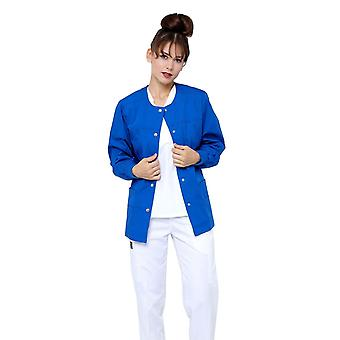 Women's Snap Jacket Warm Up Uniform Scrub