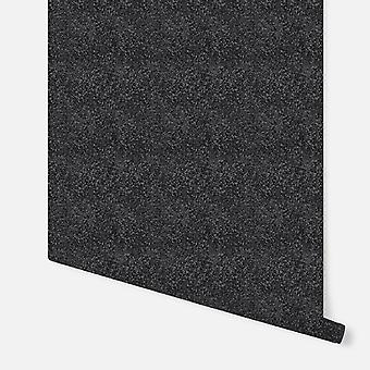 892100 - Glitterati Plain Black - Arthouse Wallpaper