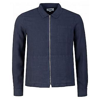 Ymc Linen Bowie Zip Shirt