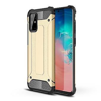 FONU Hybrid Armor Case Hoesje Samsung Galaxy S20 Ultra - Goud