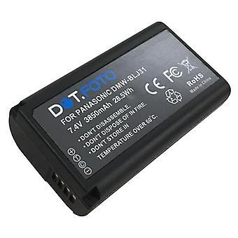 Dot.Foto DMW-BLJ31 PREMIUM 7.4v / 3850mAh Oplaadbare camera batterij voor Panasonic Lumix DC-S1, DC-S1R