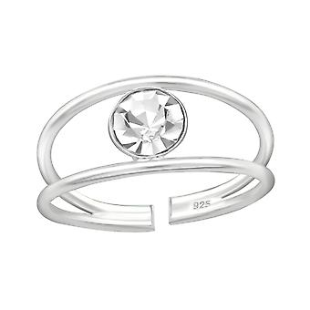 Drop - 925 Sterling Silver Toe Rings - W4689x