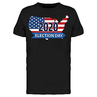 2020 Election Day, Usa Flag Back Tee Men's -Image by Shutterstock Men's T-shirt