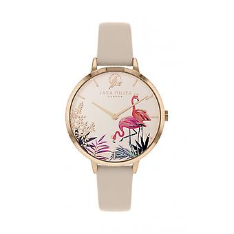 Sara Miller SA2070 Women's Rose Gold Tone Flamingo Wristwatch
