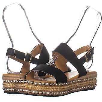 Zeven wijzerplaten Womens Berenice Open teen Casual Slingback sandalen