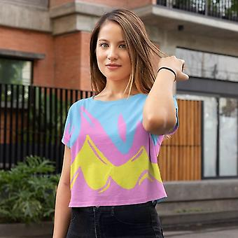 All-Over Print Crop Tee | Rosa Flamme