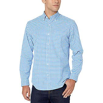 Amazon Essentials Men's Regular-Fit Long-Sleeve Solid Pocket Oxford Shirt, Wh...