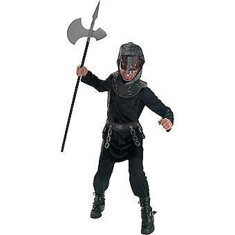 Medeltida krigare barn kostym